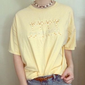Tops - Puerto Rico Embroidered and Bedazzled Shirt